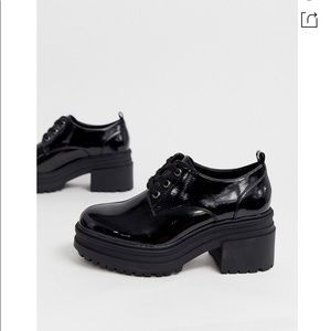 Asos patent shoes never worn size uk 8 wide US 10